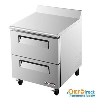 Turbo Air Twf-28sd-d2-n Super Deluxe 28 Double Drawer Worktop Freezer