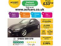 2012 BLACK BMW 320D 2.0 SE DIESEL MANUAL SALOON CAR FINANCE FR 33 PW