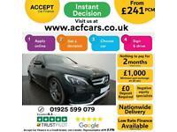 2015 BLACK MERCEDES C220 ESTATE 2.1 CDI AMG LINE AUTO CAR FINANCE FR £241 PCM
