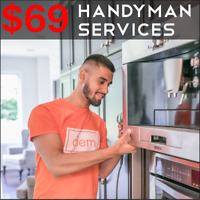 Door Lock/Shelf/Faucet Install, Light Fixtures, TV Mounting -$69