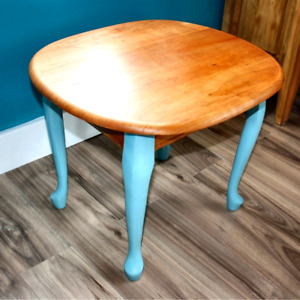 Retro Solid Wood Oval Table