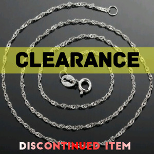 NEW **Clearance** 925 Wave Chains