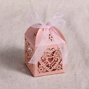 Love Heart Laser Cut Hollow Carriage Favors Gifts Cand