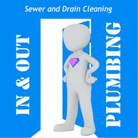 IN & OUT PLUMBING -SEWER & DRAIN CLEANING @780-893-0030