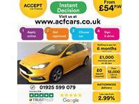2015 YELLOW FORD FOCUS 2.0 TDCI 185 ST2 DIESEL 5DR HATCH CAR FINANCE FR £54 PW