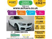 2018 WHITE BMW 118D 2.0 M SPORT DIESEL AUTO 5DR HATCH CAR FINANCE FR £241 PCM