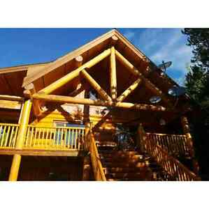 Log home for sale at Mile high estate (face lake, Logan lake BC)