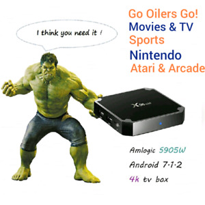 ANDROID 7 Newest X96 mini 4K S9050W CPU KODI Nintendo & Atari