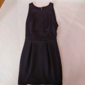 Dynamite Deep Purple No-Sleeve A-Line Dress, Size Small