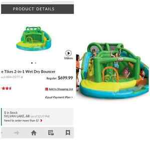 Little tikes wet or dry bouncer