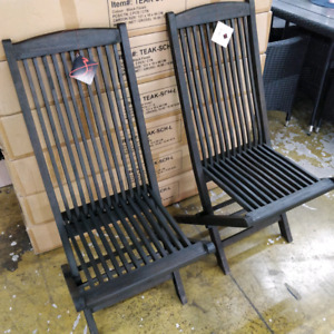 Wooden folding chairs $25ea
