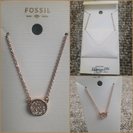 Fossil Rose Gold Glitz Necklace