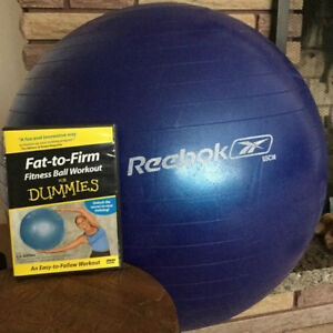 Reebok 65 cm Balance Exercise Fitness Stability Ball & DVD
