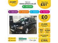 Black AUDI Q3 4X4 1.4 1.6 1.8 2.0 TDI Diesel QUATTRO S LINE FROM £51 PER WEEK!