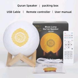 3D Moon Lamp varies colours - Quran Speaker