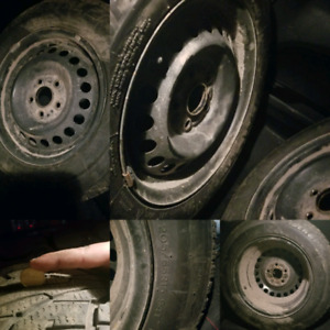 4 tires on rims 205 65 15 for sale