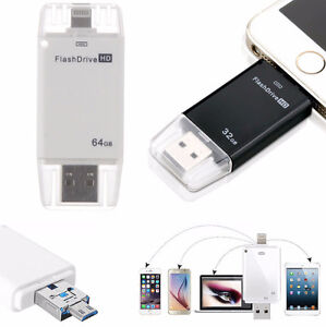 64GB USB Flash Drive Disk Memory Stick for iPad iPhone 5 5S 6 6s
