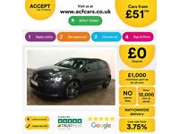 VOLKSWAGEN GOLF 1.4 TSI MATCH SE 1.6 1.9 2.0 TDI SPORT GTD GTI FROM £51 PER WEEK