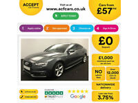 Grey AUDI A5 SALOON 1.8 2.0 TDI Diesel SPORT S LINE FROM £57 PER WEEK!