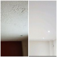 POPCORN REMOVAL SMOOTH CEILINGS