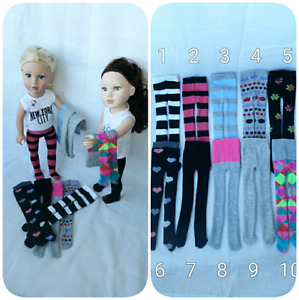 "Handmade 18"" Doll Tights"