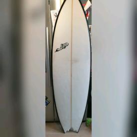 """6'0"""" JP bat tail T4 quad fin surfboard £280"""