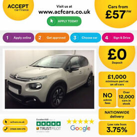 Citroen C3 FROM £57 PER WEEK!
