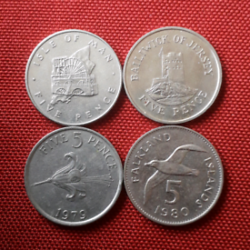 Set #2 - 5p LARGE commonwealth coins