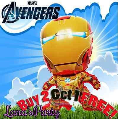 █_ 28'' IRON MAN Avengers BALLOON * MARVEL SUPER HERO ironman BIRTHDAY PARTY](Birthday Iron Man)