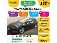 2015 BLUE VW PASSAT ESTATE 2.0 TDI 150 SE BUSINESS DSG CAR FINANCE FR £46 PW