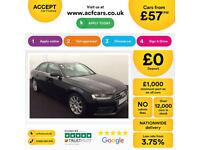 Black AUDI A4 SALOON 1.8 2.0 TDI Diesel SPORTS LINE FROM £57 PER WEEK!
