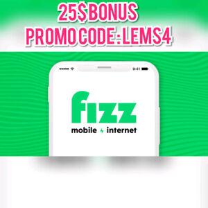 25$ de rabais pour Fizz Mobile avec le code : LEMS4