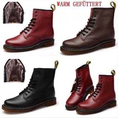 WARM GEFÜTTERT Dr. Martens Doc Boots 8 Eye Stiefel Lederstiefel GZ Stiefel 1460z ()