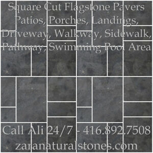 Silver Valley Antique Square Cut Flagstone Indian Stone Patio Fl