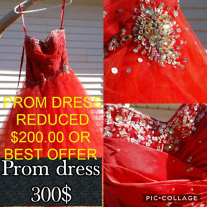 Orange prom dress Size 5/6 has a corset back