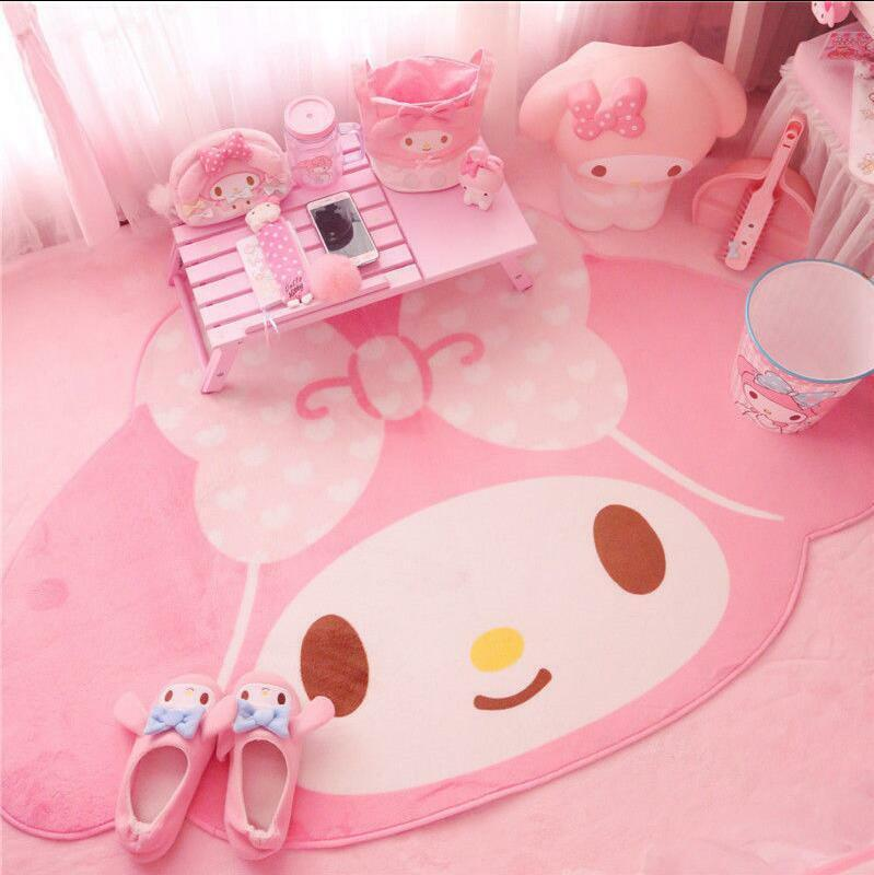 "Kawaii Pink My Melody Bow Non-Slip Door Mat Floor Mat Carpet Rug 39""X62"""