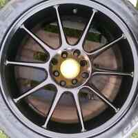"""17"""" 4x100 4x114 rims and tires"""