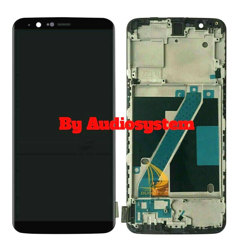 DISPLAY LCD+ TOUCH SCREEN FRAME ONEPLUS 5T A5010 VETRO CORNICE TELAIO 1+5T NERO
