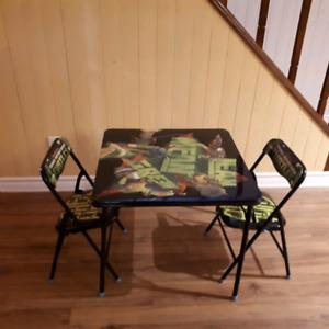 Table et chaises Ninja Turtles pour enfant