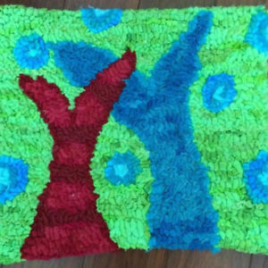 Hooked Rug (fish tails)