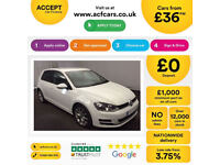 VOLKSWAGEN GOLF 1.4 TSI MATCH SE 1.6 1.9 2.0 TDI SPORT GTD GTI FROM £36 PER WEEK
