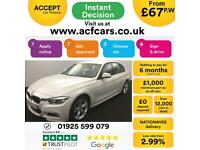 2016 WHITE BMW 320D 2.0 M SPORT DIESEL MANUAL SALOON CAR FINANCE FR 67 PW