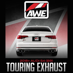 AWE Tuning Touring Exhaust for 2018+ Audi S4 (B9)