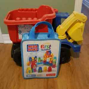 Mega Bloks Truck with First Builders bag