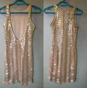 Low back sparkly dress