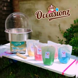 Candy Floss Machine Hire - Bubblegum Blue Rasberry Strawberry Apple