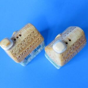 Ceramic Houses salt and pepper shakers