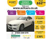 2015 WHITE BMW 320D 2.0 M SPORT DIESEL AUTO SALOON CAR FINANCE FR 62 PW