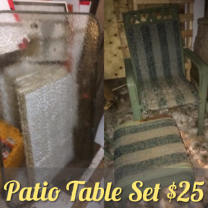 Patio Furniture Set New Price Now $20