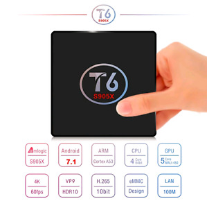 ANDROID 7.1 TV BOX - T6 - KODI 17.1 - FREE BACKLIT REMOTE